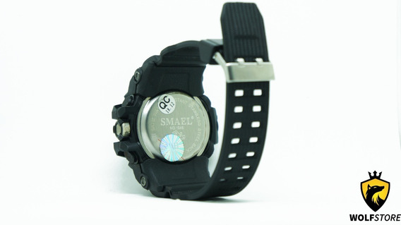 Relógio Masculino Militar Smael 1545 Prova Agua Black
