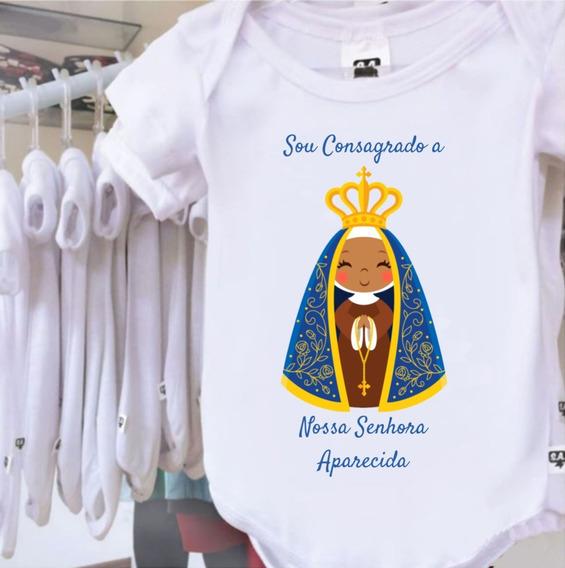 Body Personalizado Bebê Consagrado A Nossa Senhora Aparecida