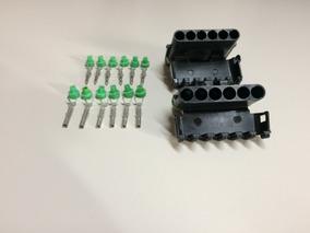 04 X Kit Conectores Tipo Delphi 6 Vias Completo