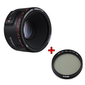 Nova Lente Yongnuo Yn50mm V2 F/1.8 + Filtro Polarizador Cpl
