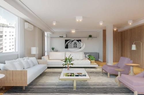 Imagem 1 de 9 de Apartamento Com 3 Dormitórios À Venda, 226 M² Por R$ 2.595.000 - Higienópolis - São Paulo/sp - Ap3428