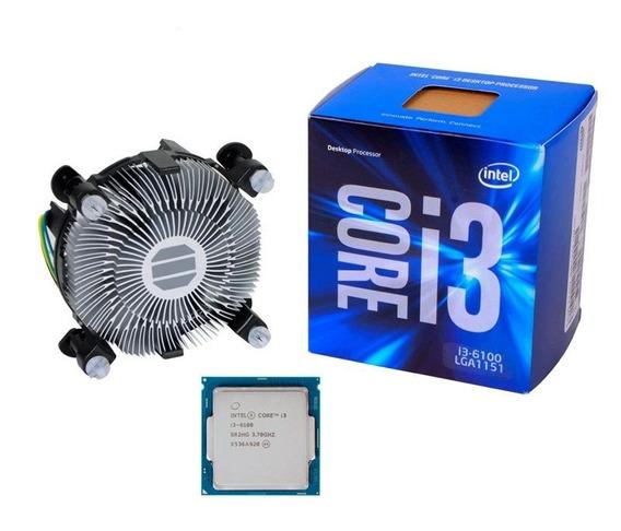 Core I3 6100 Lga Socket 1151 3.70 Ghz Box Na Caixa Testado!.