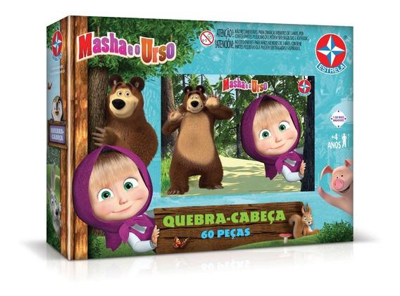 Quebra - Cabeça 60 Peças Masha E O Urso - Estrela 797380