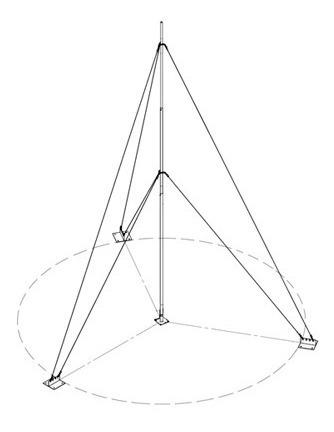 Kit Con Mástil Telescópico De 15 M Con Accesorios De Instala
