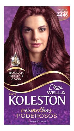 Coloração Creme Koleston Kit Borgonha Vibrante 4446