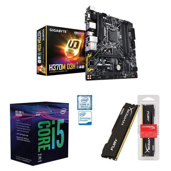 Kit Pc Intel I5 8600k 3.6ghz + Gigabyte H370m + 8gb 2400mhz