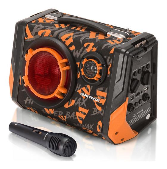 Caixa De Som Amplificada Bluetooth Usb Microfone Fm 65w Mp3 Portátil Bateria Recarregável Super Potente