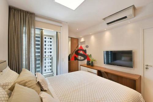 Apartamento Para Alugar, 101 M² Por R$ 13.200,00/mês - Itaim Bibi - São Paulo/sp - Ap43577