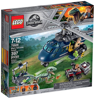 Lego Jurassic World Blues Helicopter Persuit 75928