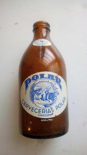 Antigua Botella De Cerveza Polar, Vacia