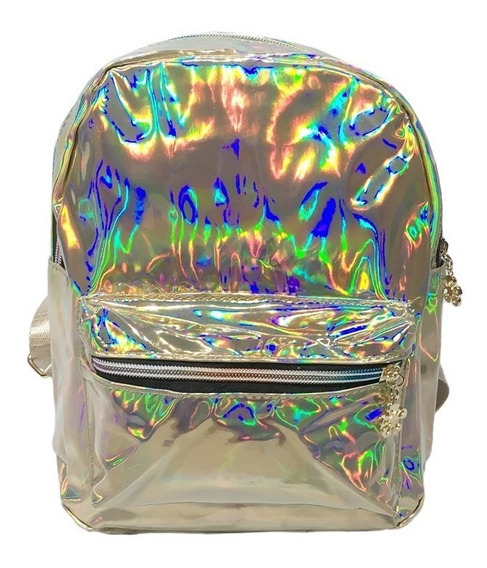 Mochila Mini Bag Passeio Festa Holográfica Tumblr Cores 1