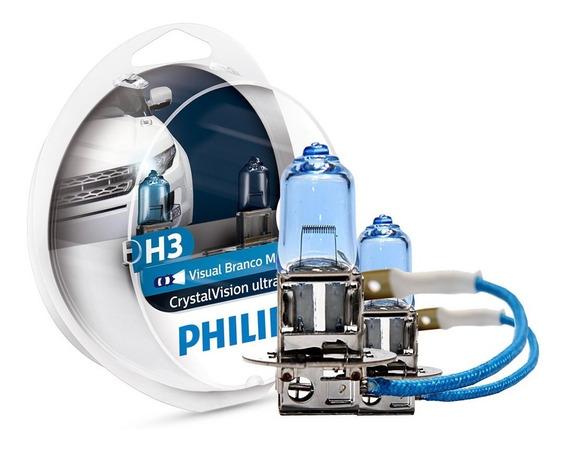Kit Lâmpada Philips Crystal Vision Ultra H3 55w-12v 4300k