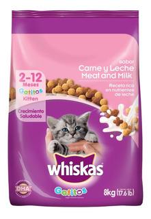 Comida Para Gatos Whiskas Gatitos Carne Y Leche X 8kg
