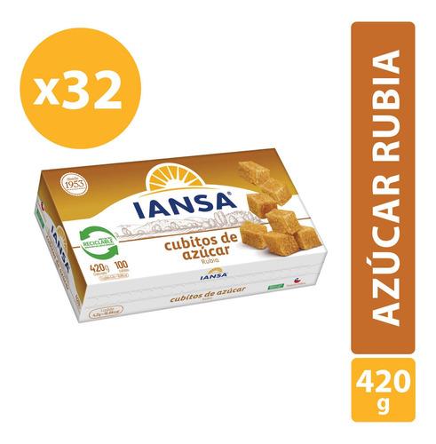 Azúcar Rubia En Cubos Iansa 420g Pack 32 Unidades