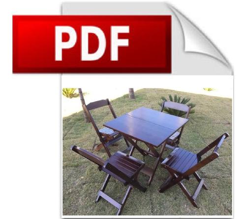 Projeto Mesa E Cadeira Dobrável De Bar Português + Brindes
