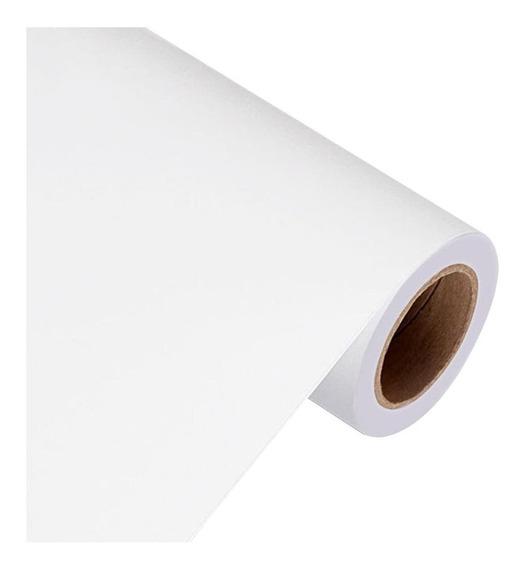 Papel Contact Branco Opaco Fosco 45cm X 2m 2 Metros