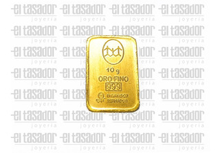 Lingote Oro 24 Kts. 10 G. Banco Ciudad *joyeriaeltasador*