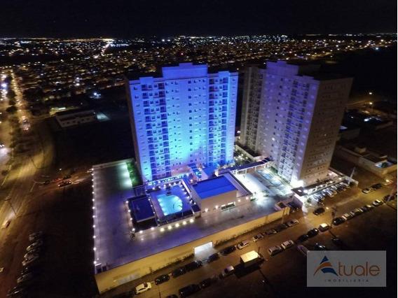 Apartamento Com 2 Dormitórios À Venda, 60 M² - Vivare Club Residence - Paulínia/sp - Ap6440