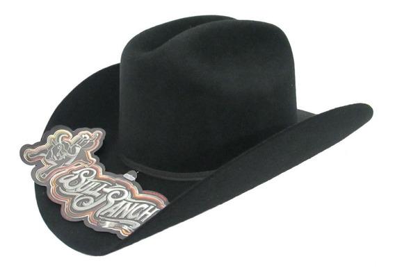 Sombrero Texana Bull Ranch Durango Niño Negra 100% Lana.