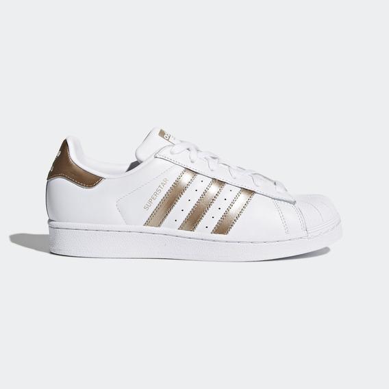 Zapatillas Adidas Mujer Superstar Dorada - Ropa y Accesorios ...