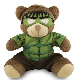 Ursinho Super Herói Fantasia Hulk 25cm