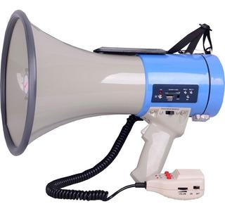 Megafono Recargable 25w Usb/sd Sirena Grabador Perifoneo