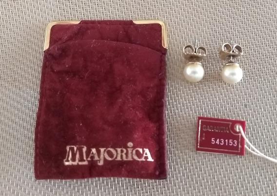 Aros De Perla Cultivada Majorica España Plata 925 C/garantía