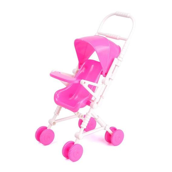 Carrinho Bebe Rosa Boneca Miniatura
