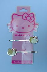 Pasadores Metálicos De Hello Kitty Chicos