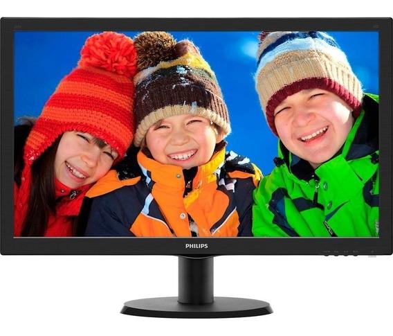 Monitor Philips Led 23.6 Full Hd Vga Dvi Hdmi 243v5qhaba/57