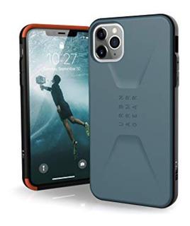 Funda Protectora Uag Para iPhone 11 Pro Max Color Azul Slate