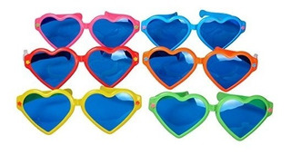 Seektag En Forma De Corazon Colorido Jumbo Azul Lente Anteoj