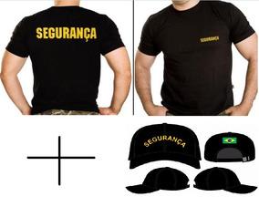 Kit Segurança Com Camiseta Malha Fria E Boné