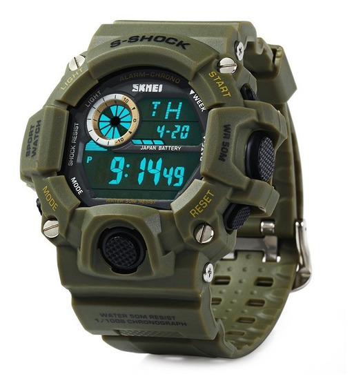 Relógio Militar Esportivo Shock Digital Skmei Prova D`água