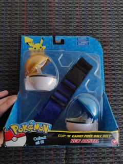 Combo Pokebolas X2 Con Pokemon Grande Adentro Y Cinturón!!