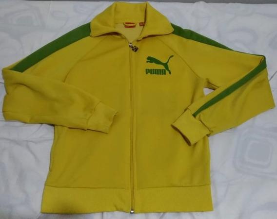 Jaqueta Puma Old School Original Importada Verde/amarela