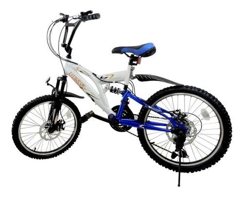 Bicicleta Benoá Aro 20 18 Marchas Com Suspensão
