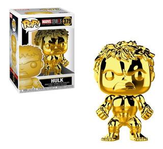 Funko Pop Hulk Oro / Cromo #379