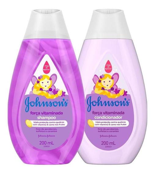 Shampoo E Condicionador Johnsons Força Vitaminada 200ml