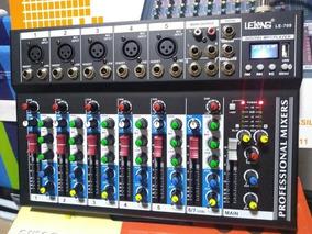 Mesa De Som 7 Canais Com Efeito Bluetooth Gravador De Audio