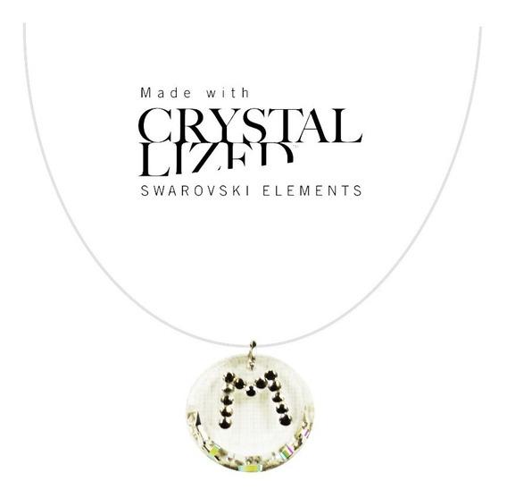 Dije Collar Letras Cristal Swarovski Elements Nuevo Oferta