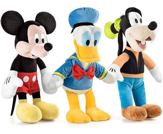 Kit Pelúcia 1 Mickey + 1 Pateta + 1 Pato Donald 33 Cm