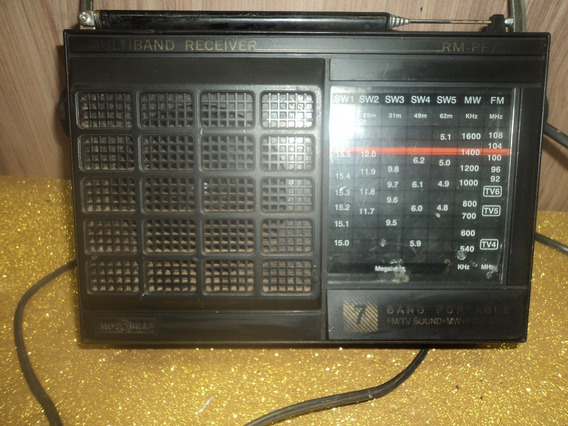 Radio Antigo/motobras C/7 Faixa Fm / Lus /sinais De Uso