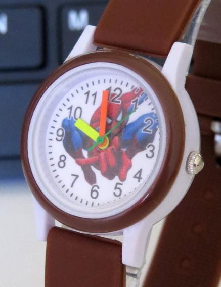 Relógio Do Homem Aranha Marrom Analógico Infantil Ofert C309