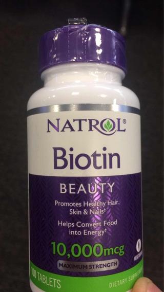 Biotina De 10.000 Mcg Natrol