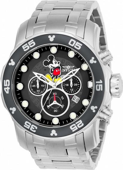 Relógio Aço Dial Preto Invicta Disney Original