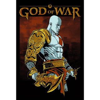 Placa - Decorativa - Grande - God Of War - Jogos (gv565)
