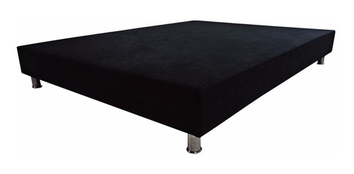 Imagen 1 de 5 de Base Cama Negro Doble