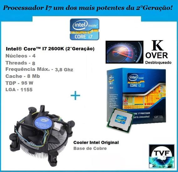 Processador Intel I7 2600k Over + Cooler Original (sem Caixa
