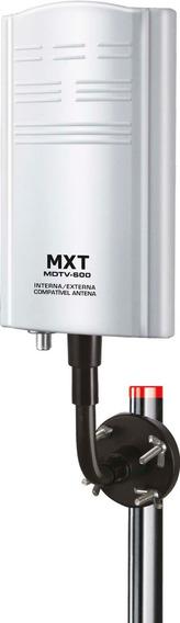 Antena Tv Digital Interna Externa Amplificada 20db Mdtv-600